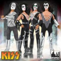 KISS - Set de 4 figurines articulées 35cm \'\'Mego-style\'\' - Gene, Peter, Ace, Paul