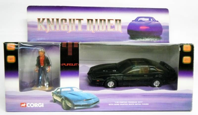 Knight Rider - Corgi - 1:36 scale K.I.T.T. Pontiac Transam diecast (with Michael Knight)