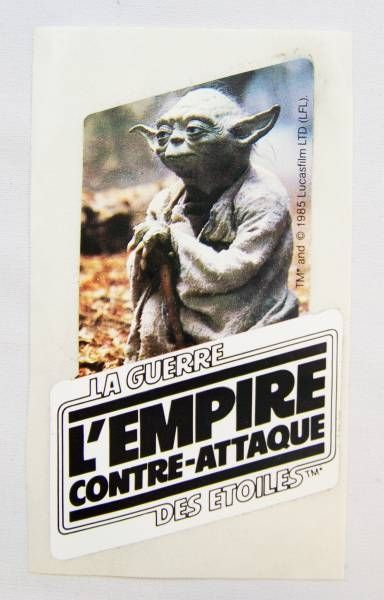L\'Empire Contre-Attaque (The Empire Strikes Back) 1985 - French Promotional Sticker (11cm)