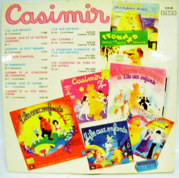 L\\\'Ile aux Enfants - Casimir - Record-Book 45s - The Casimir\\\'s letter - Ades / Le Petit Menestrel Records 1979