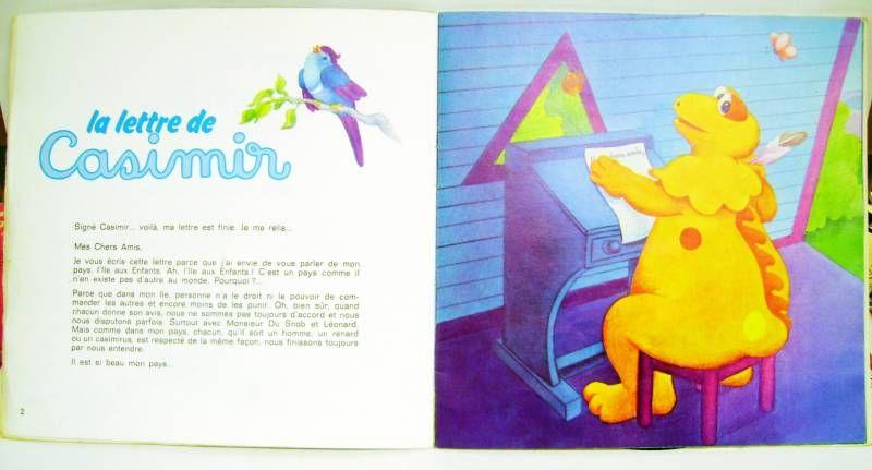 L\'Ile aux Enfants - Casimir - Record-Book 45s - The Casimir\'s letter - Ades / Le Petit Menestrel Records 1979