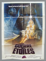 """La Guerre des Etoiles 1977 - Movie Poster \""""Style A\"""" (Tom Jung) 120x160cm (Sonis 1990)"""