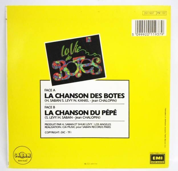 La Vie des Botes - Mini-LP Record - Original French TV series Soundtrack - Saban Records 1986