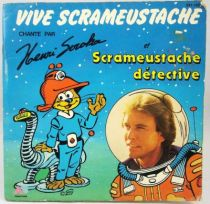 Le Scrameustache - Livre-disque 45T - AB Production - Vive Scrameustache détective