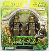 Le Seigneur des Anneaux - Minimates - Elfe archer & Elfe à l\'épée
