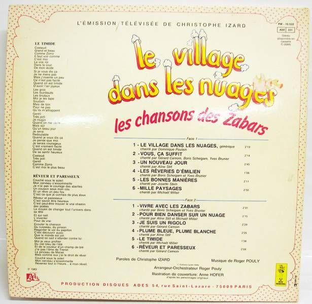 Le village dans les nuages - Dsique 33T - Les chansons des Zabars