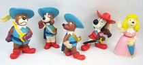Les 3 Mousquetaires - Set complet des figurines Pvc Disvenda - D\'Artagnan, Athos, Porthos, Aramis, Constance