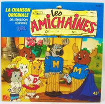 Les Amichaines - Disque 45Tours - Bande Originale Série Tv - Disques Ades 1986