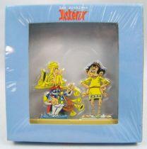 Les Archives d\'Asterix - Atlas - Figurines Métal n°19 - Assurancetourix et Anglaigus