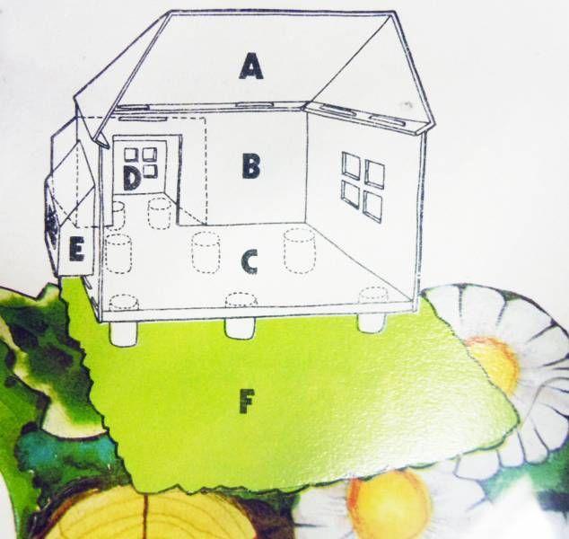 les aventures de david le gnome figurine pvc maison de david le gnome promotionnelle super. Black Bedroom Furniture Sets. Home Design Ideas
