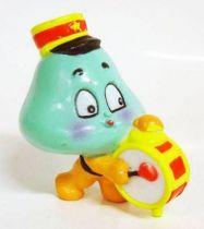 Les Champignoux - Figurine PVC Michel Oks 1984 - Champignou defilant avec tambour