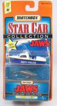 Les Dents de la Mer - Matchbox Star Car Collection - Bateau de la Police d\'Amity & Requin 01