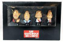 Les guignols de l\'info - Canal + - Set of 4 figures