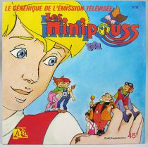 Les Minipouss - Disque 45Tours - Bande Originale Série TV - Disques Ades 1985