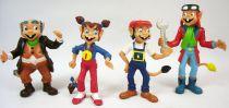 Les Minipouss - Série des 4 figurines PVC Comics Spain : Tom, Lucie, Charlie, Grand Pa Mini