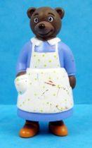 Les mondes de Petit Ours Brun - Figurine PVC Bayard Presse - Maman Ours Brun en tablier