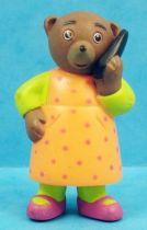 Les mondes de Petit Ours Brun - Figurine PVC Bayard Presse - Petite Oursonne au téléphone