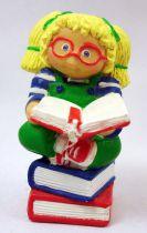 Les Patoufs - Figurine PVC 1984 - Fille blonde avec livres