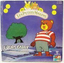 Les Petits Malins - Livre-Disque 45Tours - L\'Ours Gabby et l\'arbre magique - Disques Ades 1986