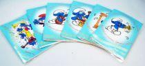 Les Schtroumpfs - Papo 1983 - Lot de 6 Cartes de Voeux Musicales Schtroumpfs