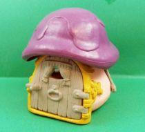 Les Schtroumpfs - Schleich Petite Maison Rose Toit Violet (occasion) 01