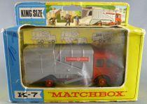 Lesney Matchbox King Size K-7 Camion Poubelle Refuse Truck Neuf Boite