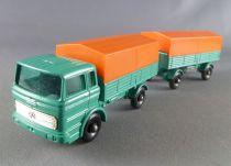 Lesney Matchbox N° 1 + N° 2 Mercedes Truck & Trailer