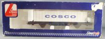 Lima Jouef L300002 Ho Sncf Flat Wagon Type Laes Container Cosco Mint in box