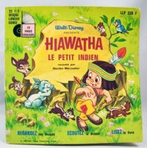 Little Hiawatha - Mini Lp and book - Story of Little Hiawatha - Disneyland Record 1969