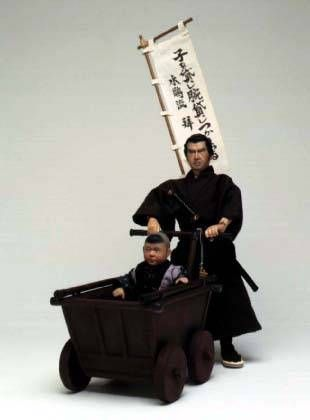 Lone Wolf & Cub -  figurine 30cm - Alfrex Samurai Figure