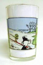 Looney Tunes - Amora Mustard Glass - Tweety and Sylvester Mini Comic