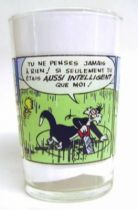Looney Tunes - Amora Mustard Glass - Tweety and Sylvester Mini Comic