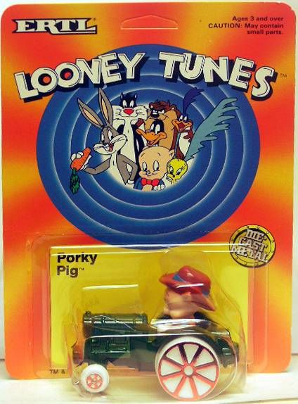 Looney Tunes - Ertl Die-cast - Porky Pig on tractor (Mint on Card)