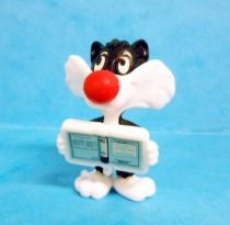 Looney Tunes - Kinder Surprise Premuim Figure 1991- Sylvester Junior with book
