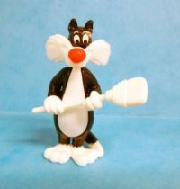 Looney Tunes - Kinder Surprise Premuim Figure 1991- Sylvester with broom