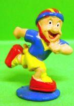 Looney Tunes - Mini PVC Figure 1999 - Porky Pig Rollerblade