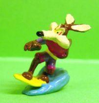 Looney Tunes - Mini PVC Figure 1999 - Wile E. Coyote Surfer