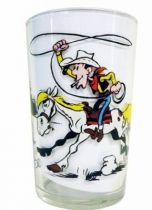 Lucky Luke - Amora Mustard Glass - Lucky Luke catches a cow in a lasso