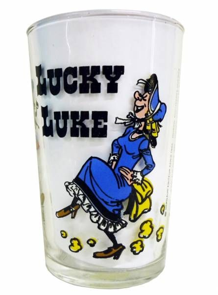 Lucky Luke - Amora Mustard Glass - Lucky Luke dances Country