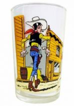 Lucky Luke - Amora Mustard Glass - Lucky Luke faces Daltons