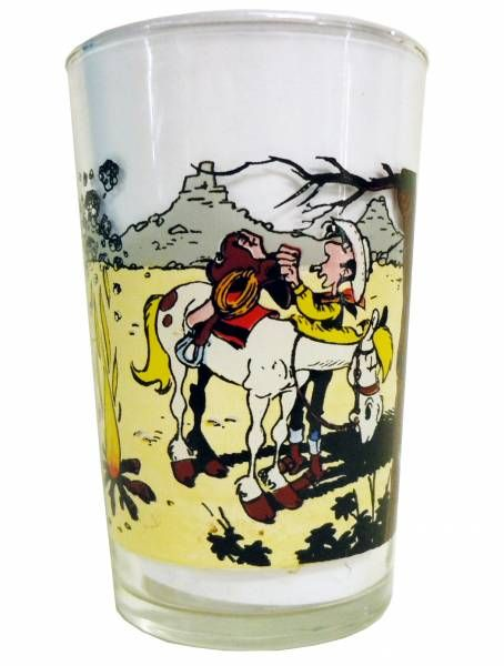 Lucky Luke - Amora Mustard Glass - Lucky Luke in bivouac shelter