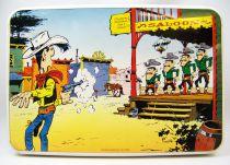 Lucky Luke - Boite à biscuit en métal Massily 1985 - Lucky Luke et les Daltons