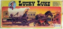 Lucky Luke - Ceji  - Mint in box Covered wagon battery operated