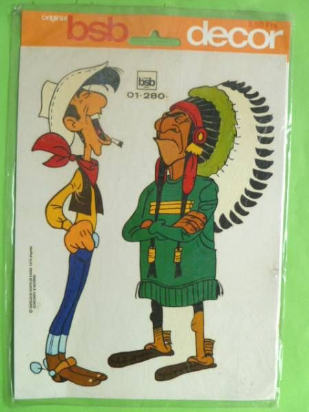 Lucky Luke - Decals BSB Decor - Lucke & Indian chief