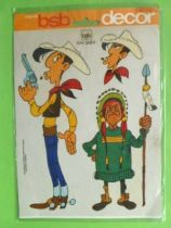 Lucky Luke - Decals BSB Decor - Lucke & Indian chief with spear