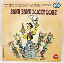 """Lucky Luke - Disque 45Tours - \""""Bang bang Lucky Luke\"""" Bande originale de la série Tv - Saban Records 1983"""