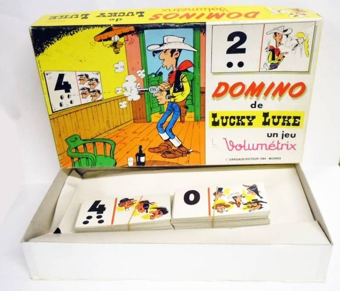 Lucky Luke - Large Domino game Volumetrix (loose with box)