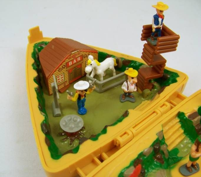 Lucky Luke - Lucky Luke Merchandising 1995 - Mini Plastic Figures with Mini Playset