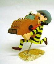 Lucky Luke - Resine Prototype - Dalton running with a cash register