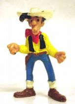 Lucky Luke - Schleich - pvc figure Lucky Luke with closed fist & skewerable straw (used)